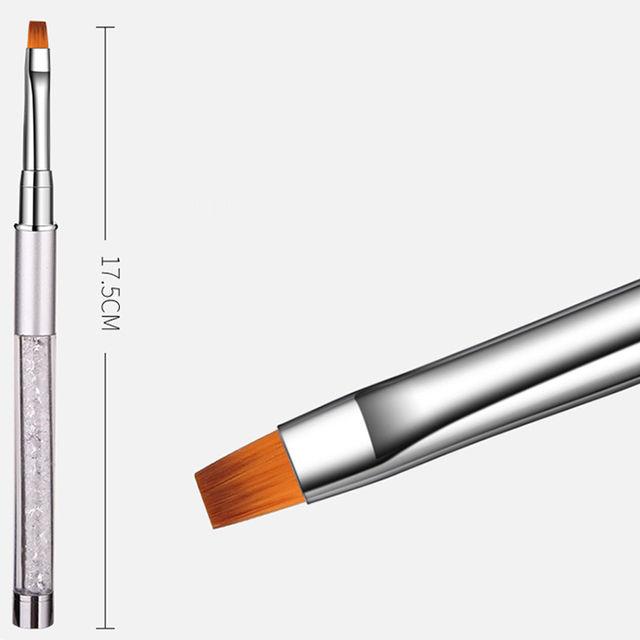 ROHWXY Nail Art Brush Rhinestone Acrylic Pen Carving Nails Tips Painting Poly Gel Tool Liner French Manicure Accessories Design 4