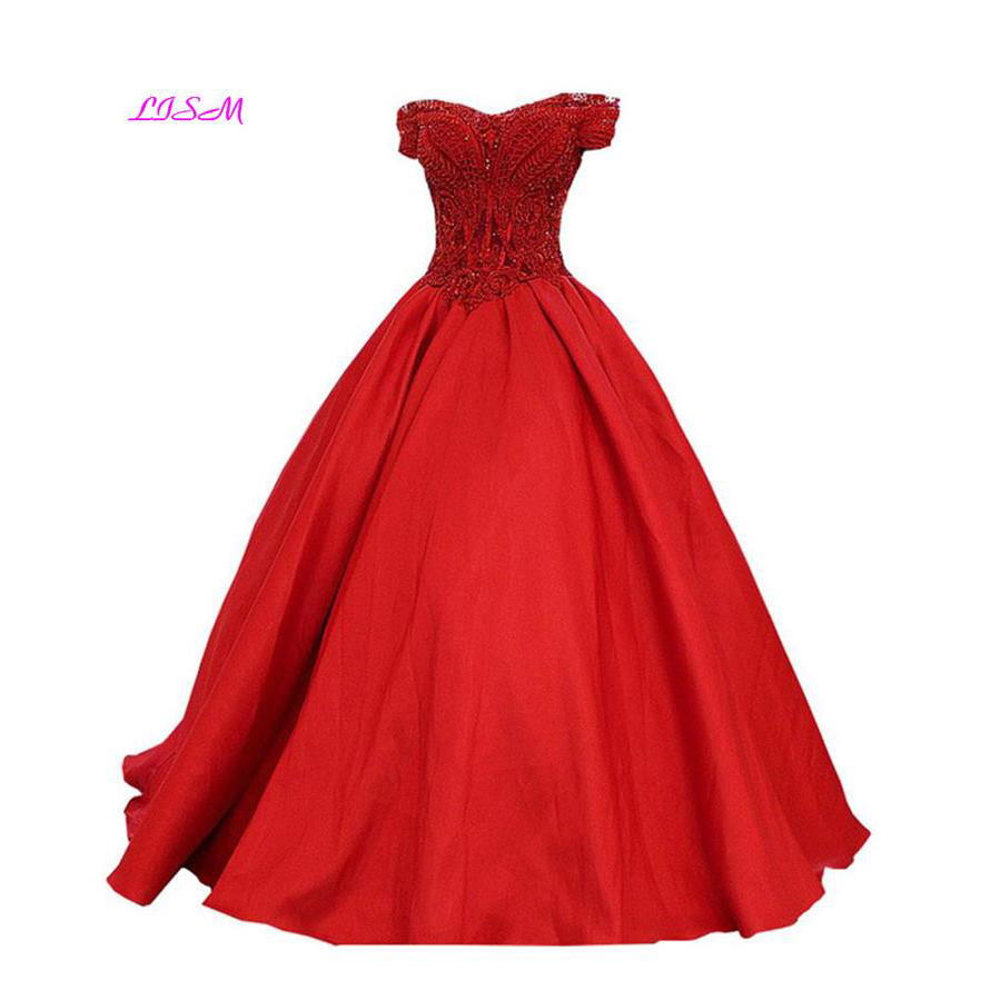 LISM 2018 Customize A Line Boat Neck Luxury Beading Lace Applique   Bridesmaid     Dress   Designer Satin Floor Length Long Prom   Dresses