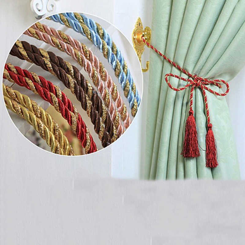 1PCS 8 Colors Room Window Rope Fashion Tiebacks Curtain Decor Tassel Cotton Curtain Fringe Ropes