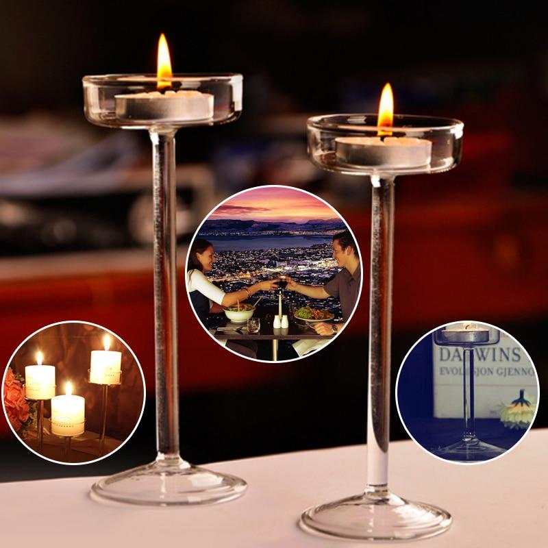 1pc Crystal Modern Candle Holder Ball Design Candlestick Home Wedding Decor