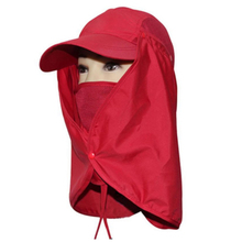 Charming New Camping Hiking Fishing Outdoor Big Wide Brim Face Neck Cover Flap Sun Hat Cap Red