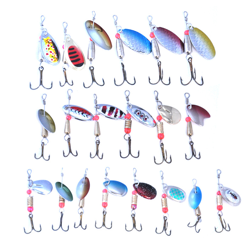 Image 3 - OLOEY 30PCS fishing lure artificial metal spoon silicone wobbler fishing spinner lures deep carp bait diving perch wobbler fish-in Fishing Lures from Sports & Entertainment