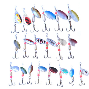 Image 3 - OLOEY 30PCS דיג פיתוי מלאכותי מתכת כפית סיליקון wobbler דיג ספינר פתיונות עמוק קרפיון פיתיון צלילה מוט wobbler דגים