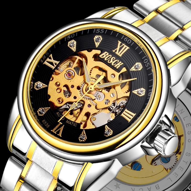 Luxury Brand Mens Automatic Mechanical Wristwatches 5 ATM Waterproof Watches Full Stainless Steel Strap Luminous FemininoLuxury Brand Mens Automatic Mechanical Wristwatches 5 ATM Waterproof Watches Full Stainless Steel Strap Luminous Feminino