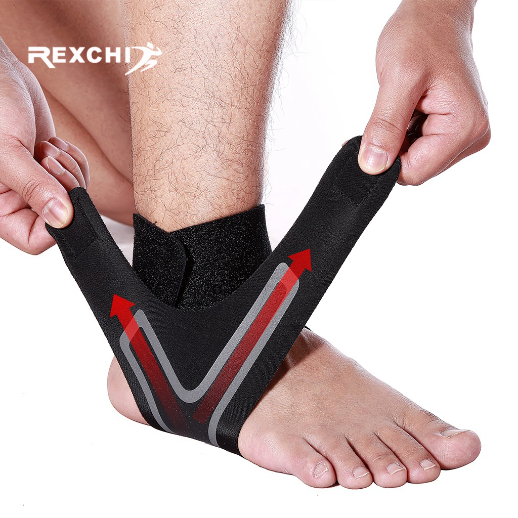 REXCHI 1 PC Sports Ankle Brace Fitness Gym Ankle Support Gear Elastic Foot Weights Wraps Protector Legs Power Weightlifting