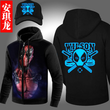 American Comic Badass Deadpool Hooded Sweatshirt Zipper Outerwear Women Men fashion 3D Hoodies Anime Characters Hoodie plus size