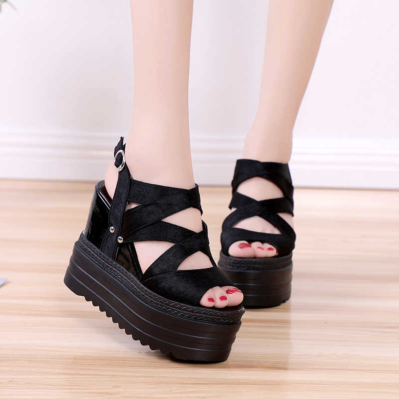 เพิ่มรองเท้าแตะฤดูร้อน 2019 รองเท้าแตะส้นสูงรองเท้าสตรีสุภาพสตรีรองเท้าแตะสบายๆรองเท้าสีขาวสีดำ y236