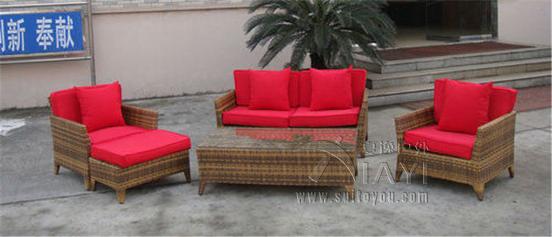5-pcs outdoor sofa set Pastoralism Home Indoor / Outdoor Rattan Sofa For Living Room classic outdoor l shaped sofa healthy pe rattan hot sale garden vine balcony rattan sofa whole set include table cushions sofa