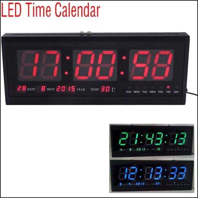 fa4b3c28107f Por DHL o EMS 5 unids Actualiza LED Reloj Despertador Digital grande Big  Time LED Escritorio