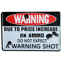 WARNING SHOP Board Metal Decor Sign Vintage Tin Letter Plate For Bar House Home Party Wall