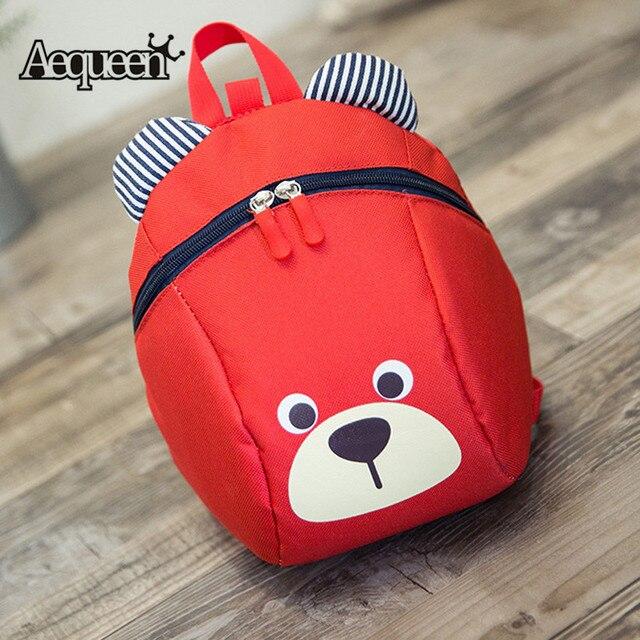 AEQUEEN Kindergarten Kid Backpacks Cute Bear Children School Bags Small  Canvas Bag Packs Boys Mini Shoulder Bag Daypack For Girl 3ae343b0e66a4