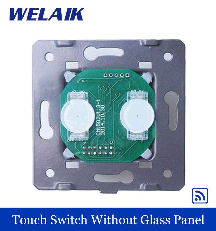 WELAIK  Switch White Wall Switch EU Remote Control Touch Switch DIY Parts Screen Wall Light Switch 2gang1way AC110~250V A923 welaik crystal glass panel switch white wall switch eu remote control touch switch light switch 1gang2way ac110 250v a1914xw b