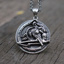 Norse Viking Warrior Odin Pendant Necklace Mens Stainless Steel Scandinavian Amulet Jewelry