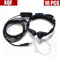 XQF 10 PZ tubo Dell'aria auricolare mic 3.5mm Y plug Finger PTT per Yaesu/Vertex Standard walkie talkie VX168 VX418 VX2R VX3R VX5R
