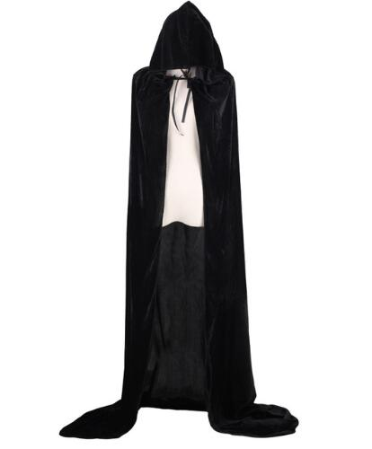 Der Totmacher Azraelpurple green red Black Halloween death cloak,Adult Witch Long Halloween Cloaks Hood and Capes Halloween