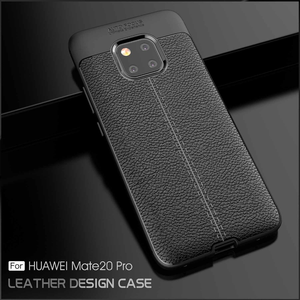 For Huawei Mate 20 Pro Case Mate 20 Pro Cover Leather Texture Silicone Soft TPU Back Cover Case For Huawei Mate 20 Pro Fundas