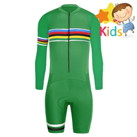 Children's Cycling Skinsuit Triathlon Trisuit for Kids Ropa Ciclismo Maillot Jumpsuit Road Racing Skinsuit Bike Sports Wear