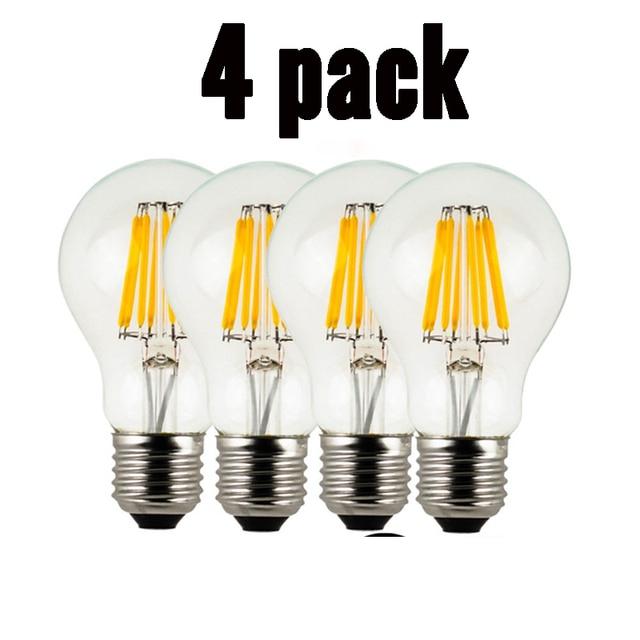 Dimmbare 8W LED Filament Lampe Birne E27 Edison Glühlampen 220v COB Bombilla Weihnachten Lichter für Hause dekoration