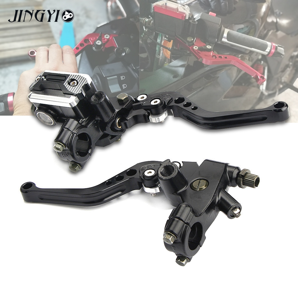 CNC Motorcycle Hydraulic Clutch Brake Lever Master Cylinder For yamaha xt660x benelli trk502 ducati monster 600 silver adjustable shorty cnc billet gear shifter brake pedal lever for ducati 748 916 996 998 749 999 monster
