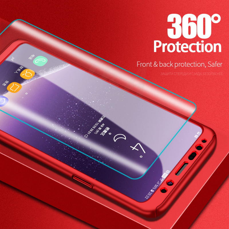 Image 2 - H&A 360 Degree Full Cover Phone Case For Samsung Galaxy S9 S8 Plus S7 S6 Edge Screen Protector Film Phone Cover Note 9 8 S8 Case-in Fitted Cases from Cellphones & Telecommunications