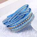 New Fashion leather bracelet Punk Style Multilayer Bracelets & Bangles Rivet Bracelet For Women pulseras Best Gifts 2016 Hot