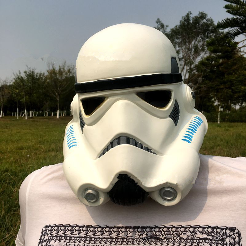 Anime Movie Star Wars Stormtrooper Cosplay Props Mask Women Men Full Face Helmet Warrior White Latex Mask Party Accessories New
