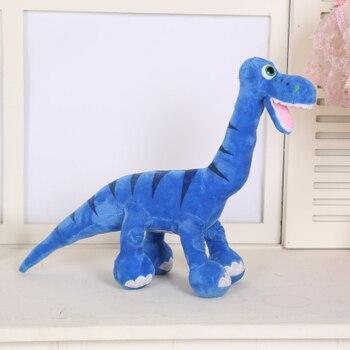 Juguete de peluche de dinosaurio azul de dibujos animados, cojín suave, regalo de cumpleaños b0717, aproximadamente 50x70cm