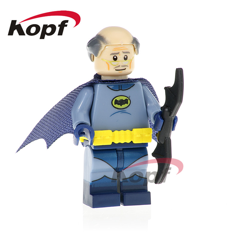 20Pcs PG419 Super Heroes Bat Alfred Killer Moth Cacique Apache Chief Joker Building Blocks Bricks Figurs For Children Gift Toys