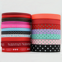 100 Yard Dot Printing Thread Handmade DIY Clothing Accessories Ribbon Grosgrain Hair for Decorative Tape