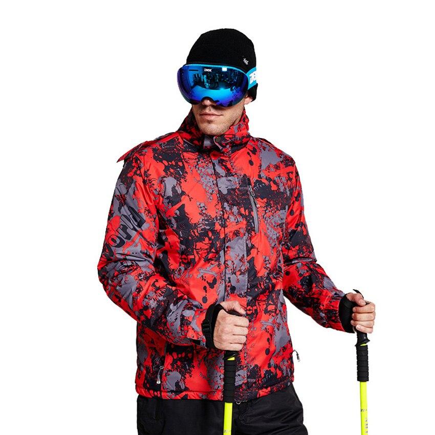 Veste de Ski hommes en plein air imperméable coupe-vent respirant chaud qualité nouveau manteau de neige hiver mâle veste de Ski hommes Ski costumes 203wy