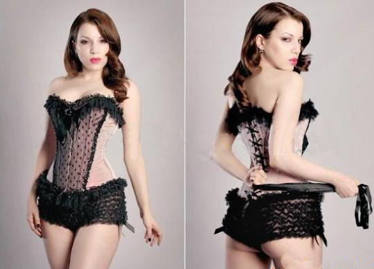 Hot Sale Burlesque Style Satin Corset Baby Pink Open Cup Sexy Corset Bustier 3SF9410