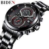 Sport Quartz Watch Chronograph Stainless Steel Men Military Wrist Watch Men Clock Watches Top Brand Luxury