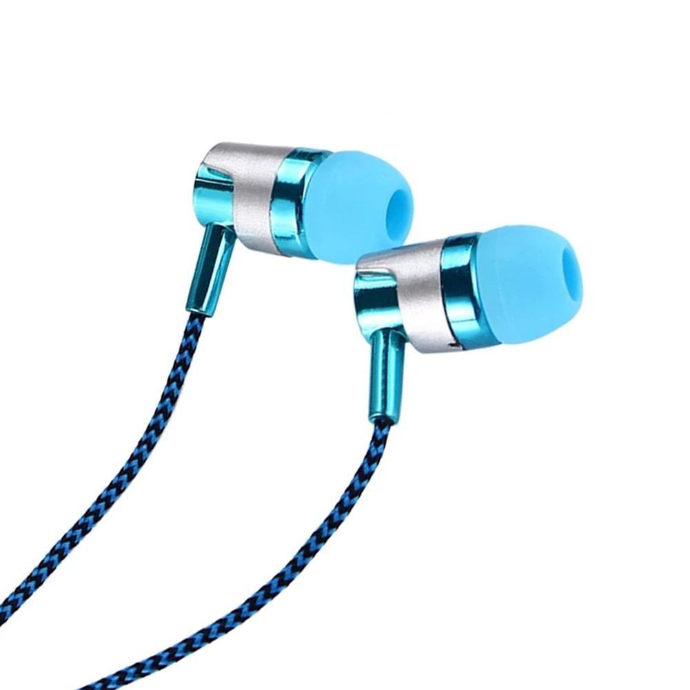 3.5mm Wired In-ear Stereo Music Earphone Earpiece Hands-free Mic for Smart Phone Wired In-ear Stereo Music Earphone