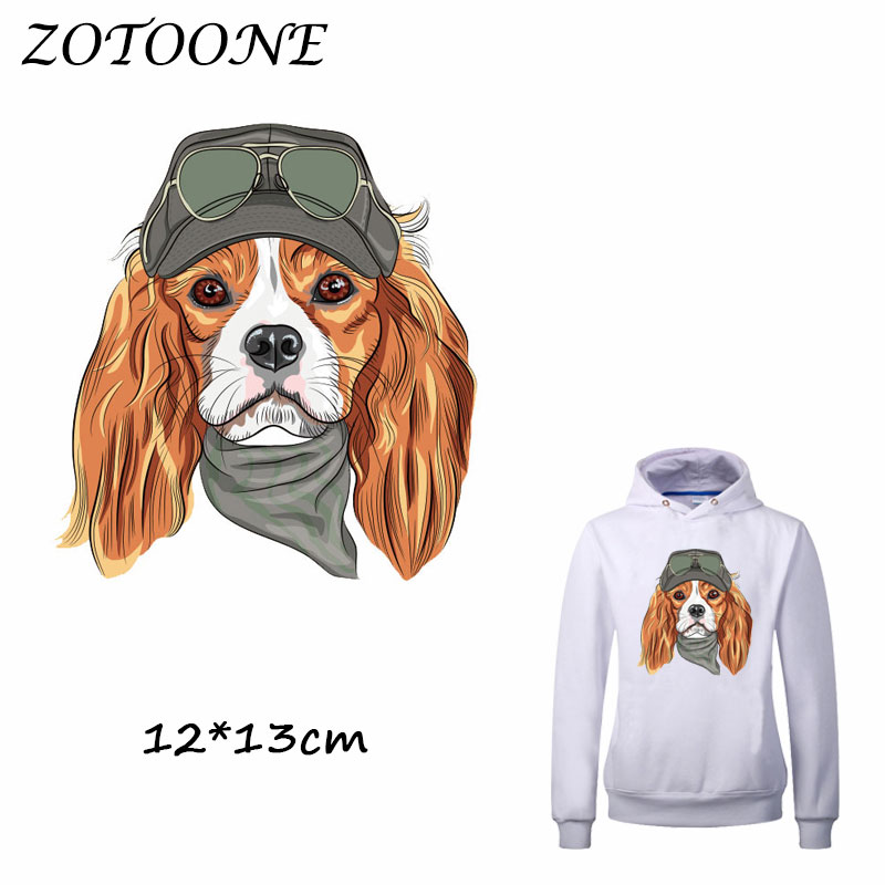 ZOTOONE Iron on Patches Heat Transfer for Clothing Dog T Shirt Beaded Applique Clothes DIY Accessory Decoration