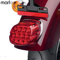 Marloo Harley Tail lamp assembly License Plate Tail Light Layback LED Tail Lamp For Harley Davidson Sportster 883 1200 XL