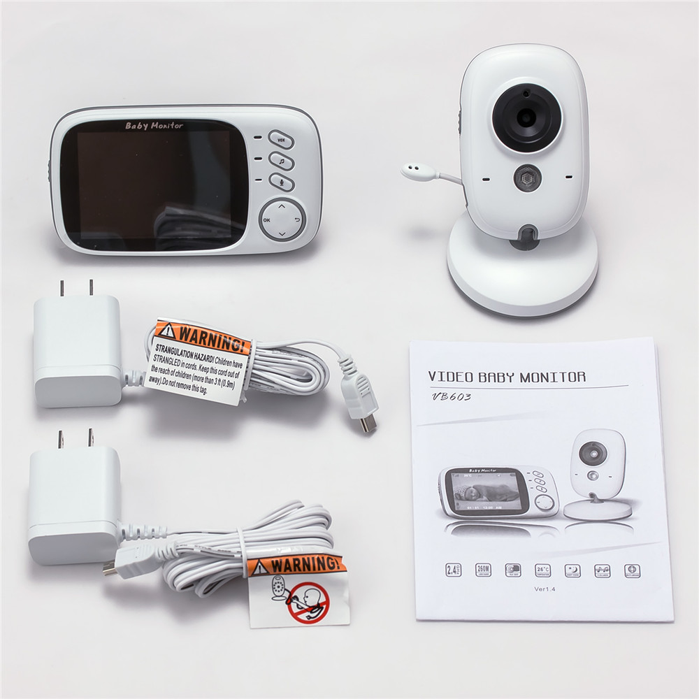 3 Inch Wireless Baby Monitor With High Resolution Night Vision To Baby Security Camera 30