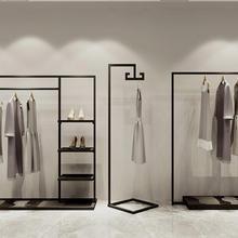 Магазин одежды напольное покрытие витрины Тип мужчины и женщины одежда стеллажная выкладка сторона подвесная полка сочетание. Одежда