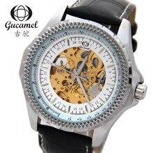 Gucamel большой циферблат диаметром 46 мм высокого класса мужская мода бизнес часы полые автоматические механические часы белый пояс G026