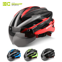 BASECAMP Bicycle Helmets Sunglasses Cycling Glasses Helmet 3 Lens Integrally Molded Men Women Mountain Road Bike Helmets