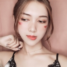 Choker girl fine necklace rose gold Japan and South Korea slim vintage interval beads short clavicle chain