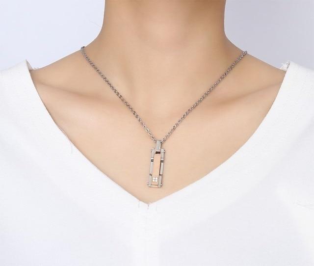 Высшее качество Модная бижутерия ожерелье с цирконом для пары