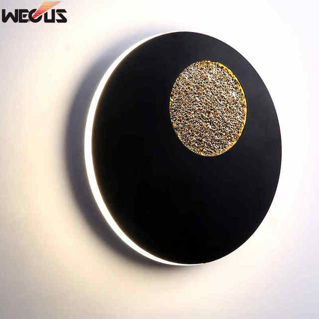 (WECUS) New modern wall lamp, artistic creative personality living room wall lamp, designer model room bedroom bedside lamp