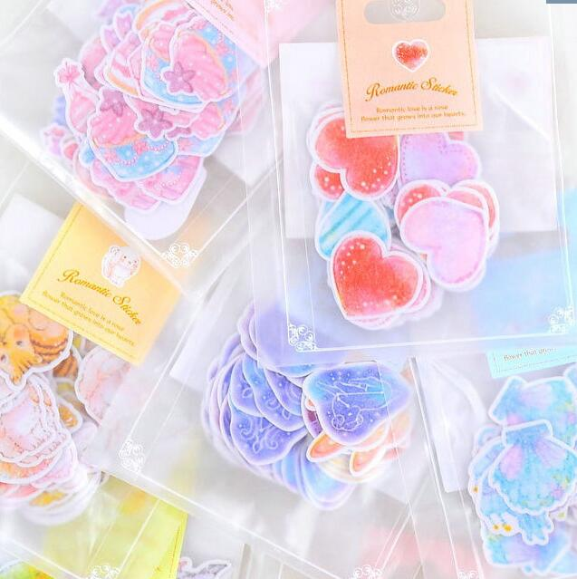 70pcs/pack Watercolor Ocean Animals Label Stickers Set Decorative Stationery Stickers Scrapbooking DIY Diary Album Stick Lable