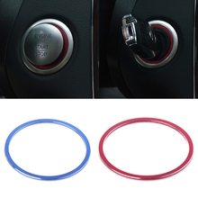 Auto Car Ignition Switch Cover Ring Aluminum Engine Start Decoration For Benz
