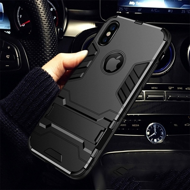 Case For iPhone 8 7 6 6S Plus Hybrid Shockproof 3D Cool Armor Rugged Hard Case For iPhone X XS MAX XR 5 S 5s SE Stand Cover Case