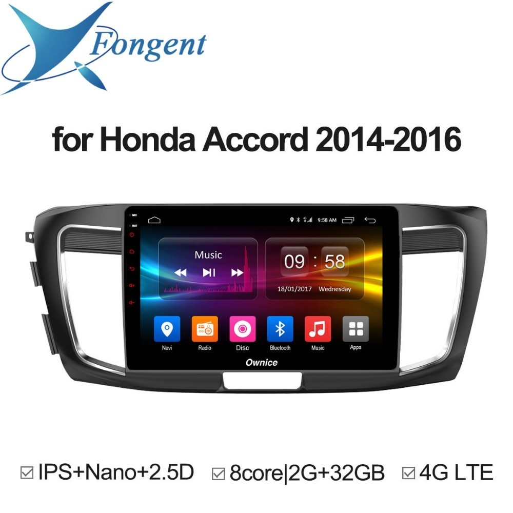 for HONDA Accord 2014 2015 2016 Android Unit Car radio Multimedia player GPS Navigator DVD Stereo