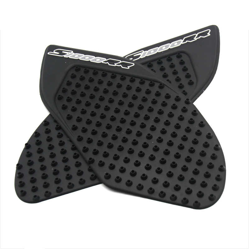 elegantstunning Motorcycle Tank Protector Sticker Tank Traction Pad with 3M for BMM S1000RR S1000R Black