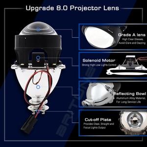 Image 2 - Светодиодный биксеноновый прожектор Angel Devil Eyes H4 H7, линзы для фар COB DRL, линзы Halo Mini 2,5 для автомобильных фар, модификация аксессуаров