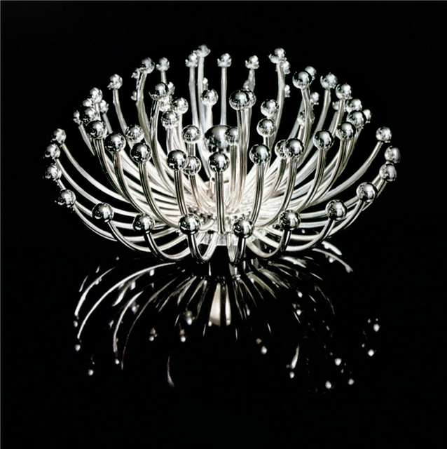 Art Metal Flowers Round Acrylic Modern Led Ceiling Lights for Living