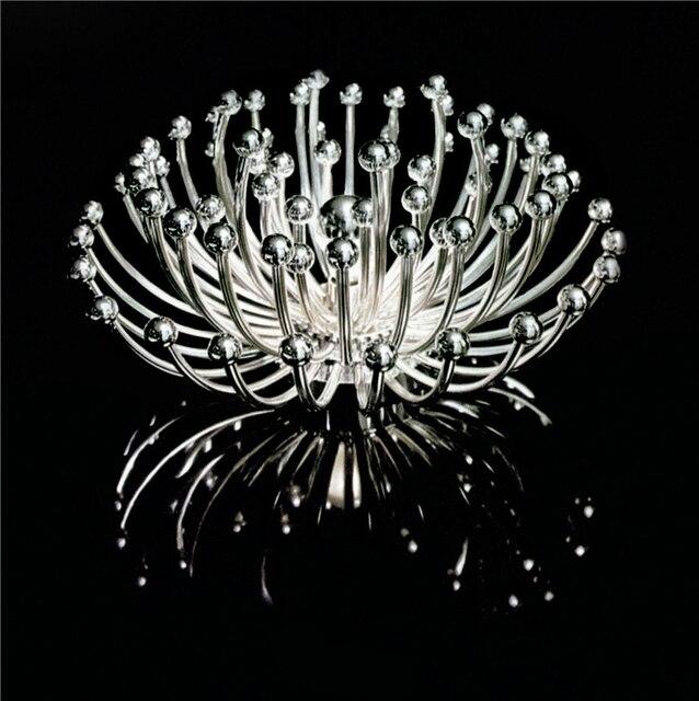 aliexpress.com : kunst metall blumen runde acryl moderne led ... - Moderne Deckenleuchten Fur Wohnzimmer